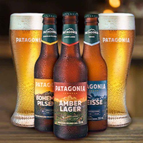 Patagonia com Copo Riegsee (9 Cervejas + 2 Copos)