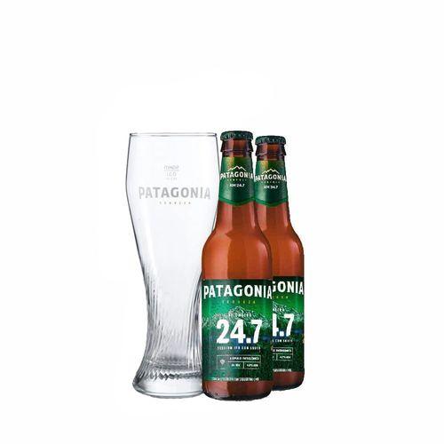 Cerveja Patagonia 24.7 com Copo